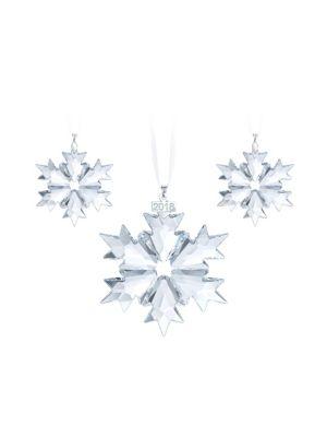 Three Piece 2018 Christmas Ornament Set by Swarovski
