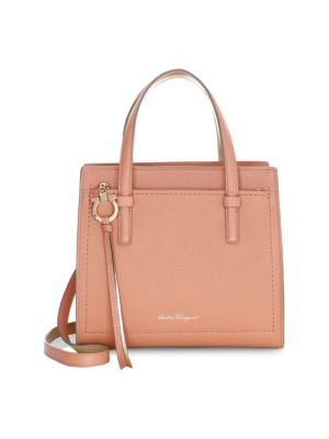 Small Amy Leather Satchel in Blush