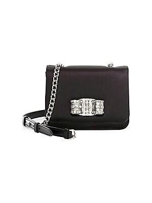 1836bcf1eb9a Salvatore Ferragamo - Cocktail Swarovski Crystal   Leather Crossbody Bag