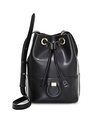 53f4b7af362f Salvatore Ferragamo - City DS Leather Bucket Bag - saks.com
