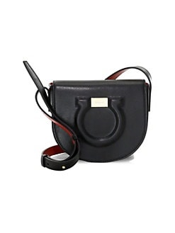 3e8d7c9c37 QUICK VIEW. Salvatore Ferragamo. Gancio City Leather Crossbody Bag