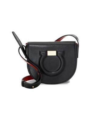 Gancio City Leather Crossbody Bag by Salvatore Ferragamo
