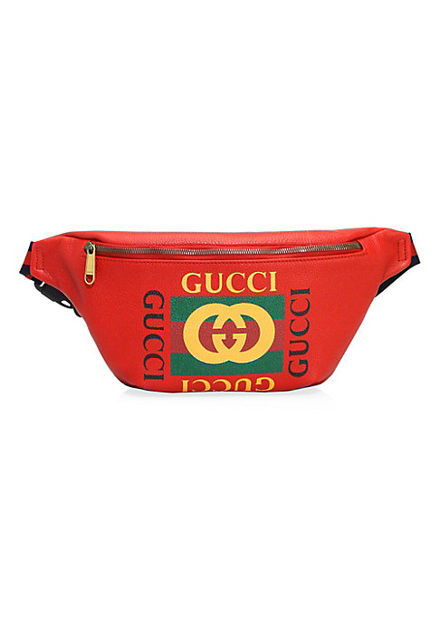 """Image of Zipper closure. Adjustable nylon Web strap with plastic buckle closure, 7"""" long. Green and red Web. Cotton linen lining.11""""W x 7""""H x 3""""D.Leather with Gucci vintage logo. Spot clean. Made in Italy."""