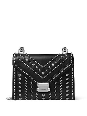4cf467f65380 MICHAEL Michael Kors - Whitney Studded Large Leather Shoulder Bag - saks.com