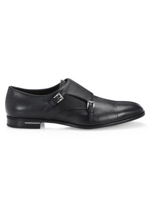 Saffiano Double Monk Strap Shoes by Prada