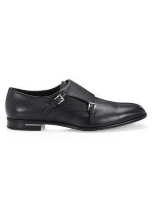 Saffiano Double Monk Strap Shoes by Prada