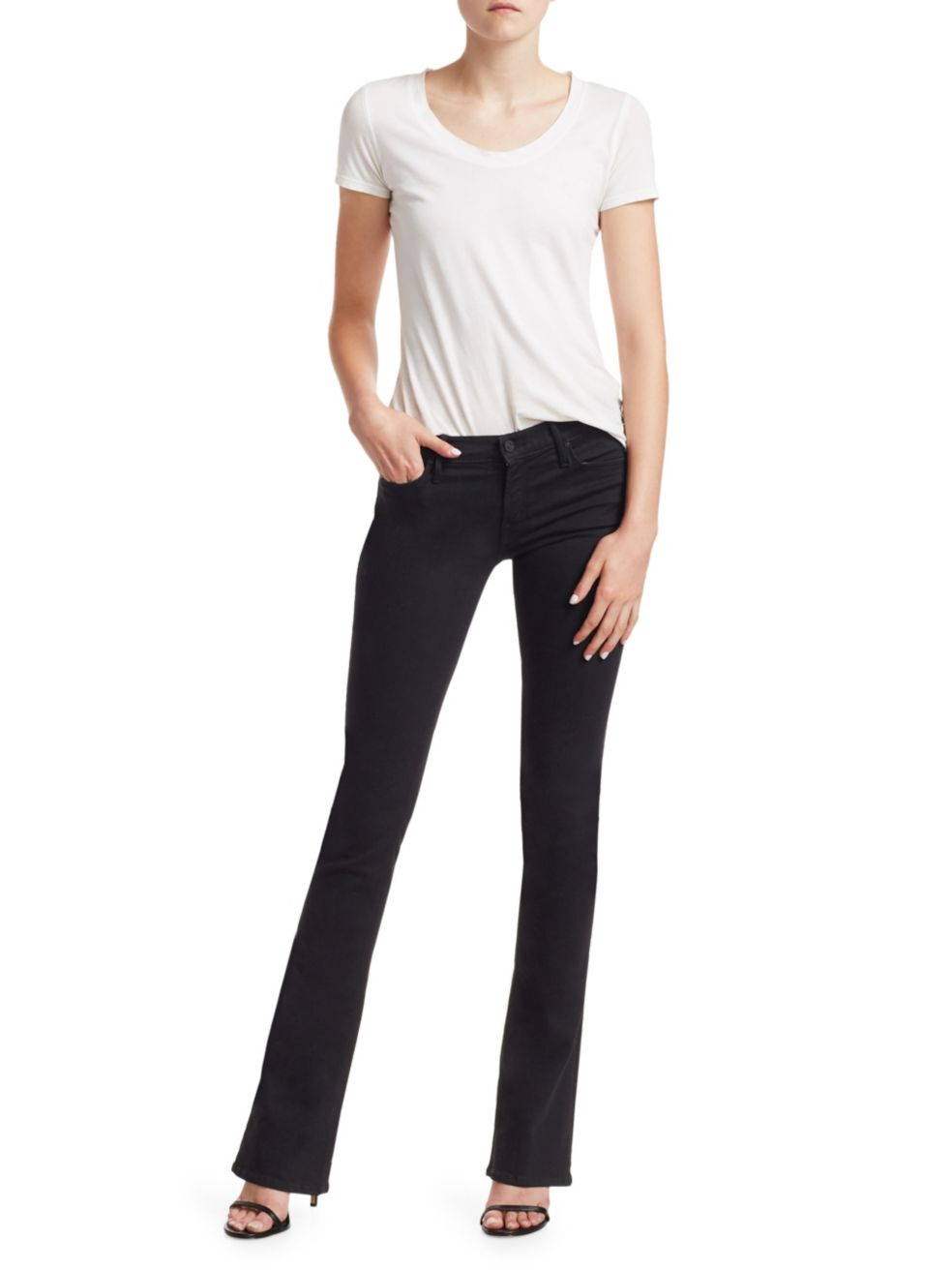Mother Runaway Mid-Rise Flare Jeans   SaksFifthAvenue