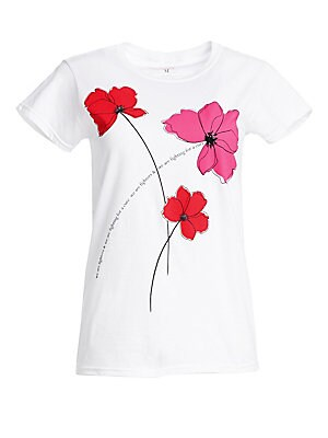 210ce27ca Carolina Herrera - Key To The Cure Poppy T-Shirt - saks.com