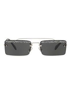 e820a69a86 Miu Miu. 58mm Glittered Rectangular Sunglasses