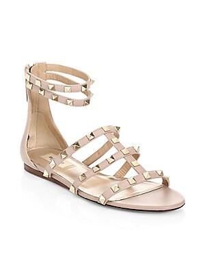 578c68d2364a Stuart Weitzman - Studded Jelly Flat Sandals - saks.com