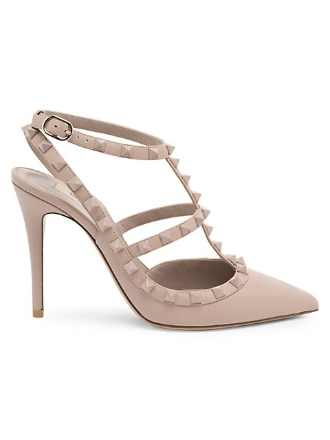 Valentino Garavani Rockstud Leather Slingback Pumps