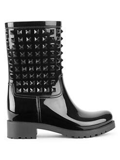3f8ab6dc2b0 Valentino Garavani - Rockstud Rainboots