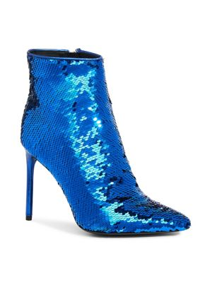 Celyn Sequined Ankle Booties, Palace Blue