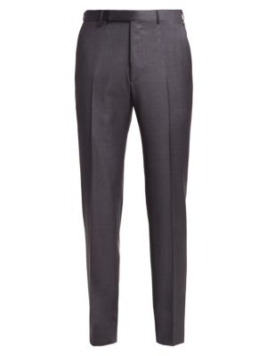Ermenegildo Zegna Achillfarm Tapered Straight Leg Wool Trousers