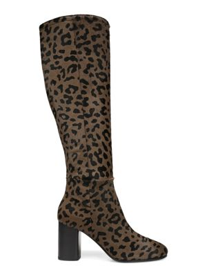 Reese Calf Hair Knee High Boots in Neutrals