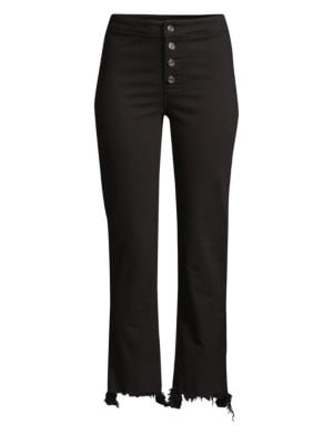 Max Button Front Jeans in Black