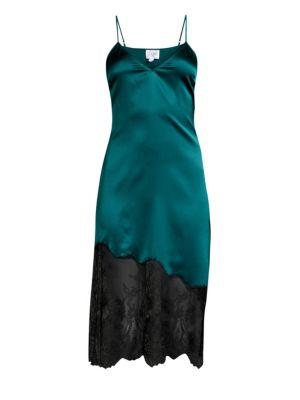 Cami Nyc Selena Stretch Silk & Lace Slip Dress