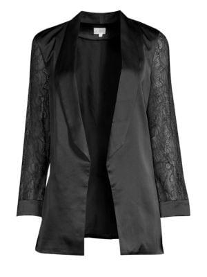 Cami Nyc Liv Silk & Lace Blazer