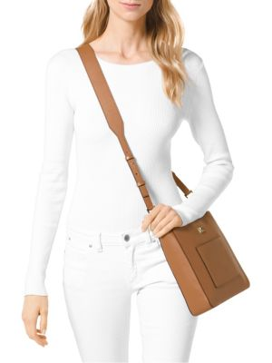 MICHAEL KORS Leathers Gloria Pocket Swing Crossbody Bag