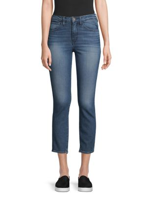 W3 Cropped Distressed High-Rise Skinny Jeans, Cammi