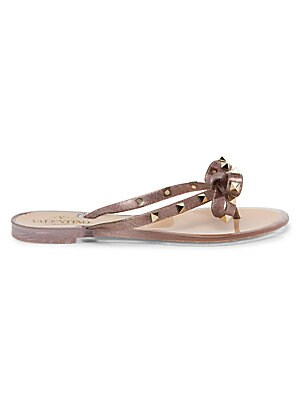 2f394bf76 Rondelles Whiplace Leather Sandals.  138.00. Valentino Garavani - Rockstud  Bow Metallic Jelly Thongs