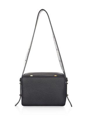 LUTZ MORRIS Myke Leather Shoulder Bag in Black