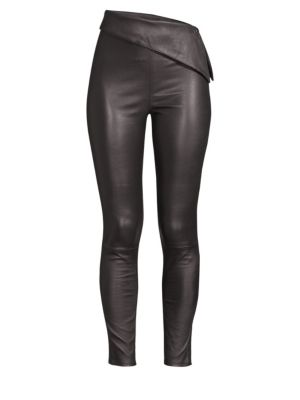 Rumer Cropped Stretch-Leather Leggings, Night Life