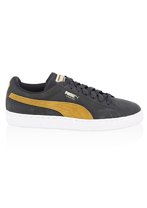 Image of Definitely the most well-known and popular of all PUMA shoes, this sport classic is one of the shoe that built the success of the German Sports Brand. As part of every street community from the 80's on, the Suede has even been involved in historical matte