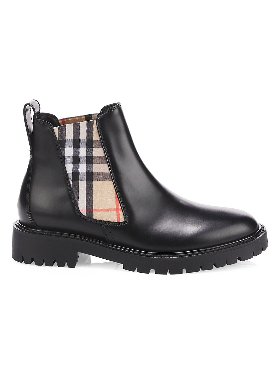 Burberry WOMEN'S VINTAGE CHECK LEATHER CHELSEA BOOTS