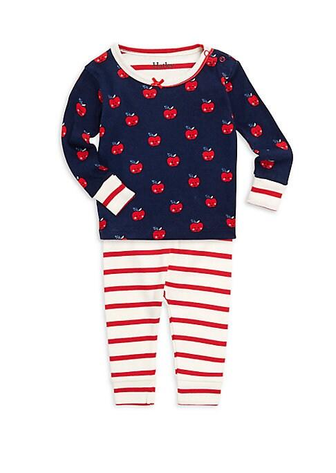 Baby Girls TwoPiece Smiling Apples Pajama Set