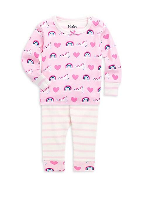 Baby Girls TwoPiece Unicorn Pajama Set