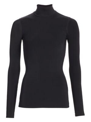 Rudd Long-Sleeve Stretch-Jersey Turtleneck Top, Black