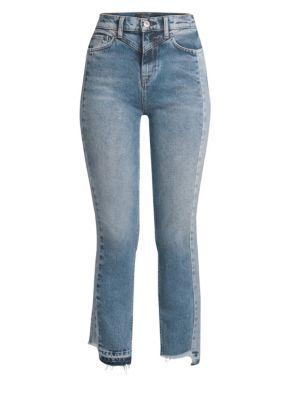 HUDSON Zoeey High-Rise Straight Cropped Jeans With Front Yoke in Blue