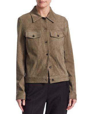Coltra Suede Jacket - Sage Size L