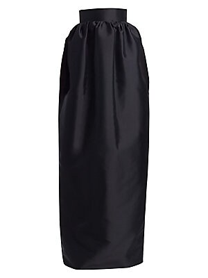 Image of Fitting snugly around the waist, this floor-length skirt balloons out before tapering slightly until it reaches the ground - a modernist take on the ball skirt. Hidden pockets makes all the difference to the wearer in terms of both posture and comfort. Ba