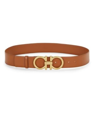 Logo Leather Belt by Salvatore Ferragamo