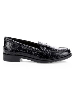 Classic Croc Embossed Penny Loafer, Black