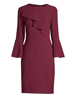 d072238907dd Elie Tahari. Sibyl Bell Sleeve Crepe Dress