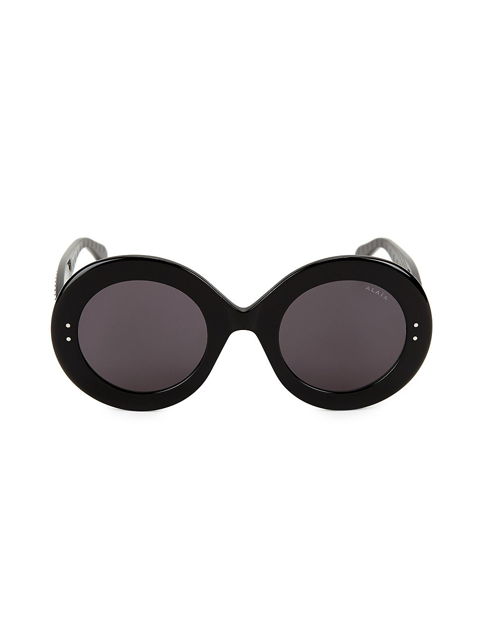 Alaïa Le Round Clou 50mm Oversized Round Sunglasses In Black