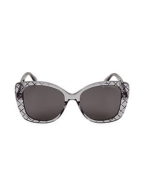 aa7b4e28299 Bottega Veneta - DNA Intrecciato 53MM Butterfly Sunglasses - saks.com