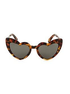 45abe270f8c3 Saint Laurent - Loulou 54MM Heart Sunglasses