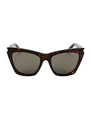 8b6699cdad809 Saint Laurent - Kate 55MM Cat Eye Sunglasses - saks.com
