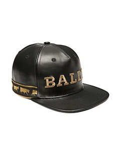 e011db40f60 Bally. Animal Leather Baseball Cap