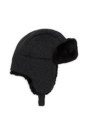 72cdf4f93d8 Inverni - Matilde Rabbit Fur-Lined Trapper Hat - saks.com