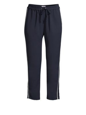 Cassius Side-Stripe Combo Track Pants, Aquarius