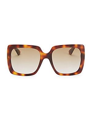 3c23f233f7 Gucci - 54MM Glitter-Detail Square Sunglasses - saks.com