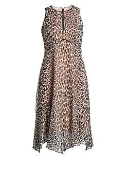 0944ff326787 Nanette Lepore. Silk Print Frock Dress