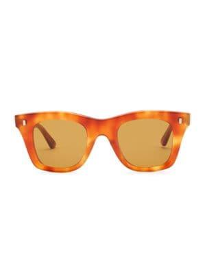 ae04db2686be CELINE - Square Tortoise-Shell Print Sunglasses - saks.com