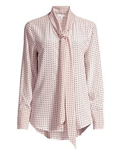 dd68c0db449b1 Equipment. Luis Nostalgia Polka Dot Silk Blouse