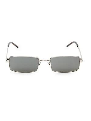 3d04a0e91dc Saint Laurent - 56MM Metal Rectangle Sunglasses - saks.com